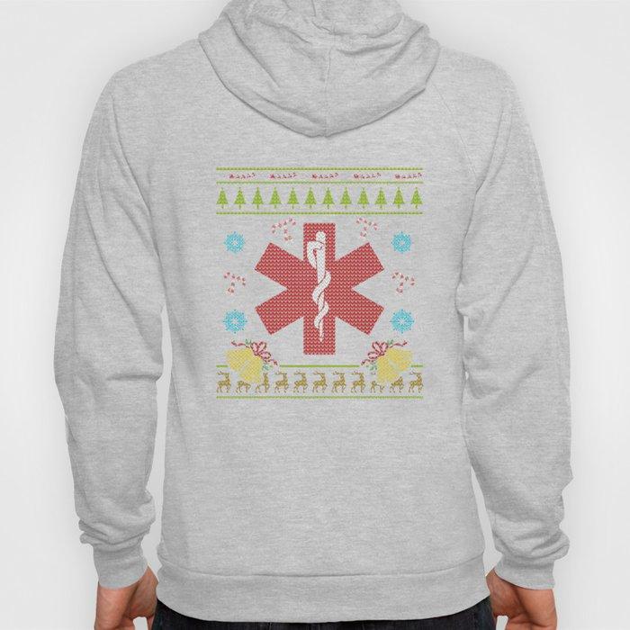 EMS Christmas Ugly Shirt EMT Paramedic Sweater Ugly Design Hoody