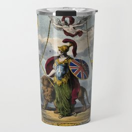 Raphael's Prophetic Almanack: a grieving widow, war, and Britannia (1839) Travel Mug