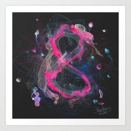 8 - infinity, abundance, success in business, Modern Feng Shui Art Print