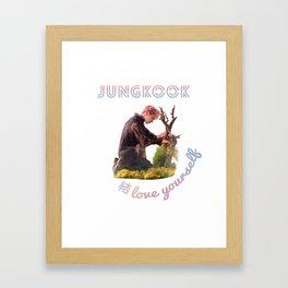 BTS Love Yourself Answer Design - Jungkook Framed Art Print