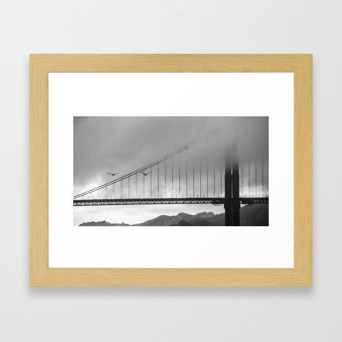 Gray Bay Framed Art Print