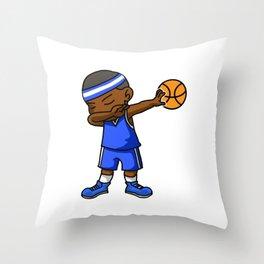 Kids Basketball Boy Dabbing Dab Gift Idea Throw Pillow