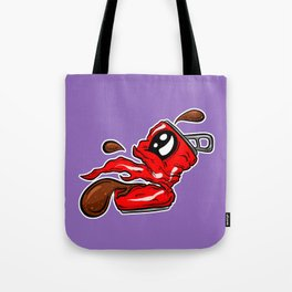 Sad Fizzy Crushed Cola Can Cartoon - Burping Betty Tote Bag