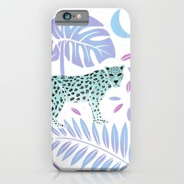 Leopard White & Mint iPhone Case