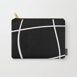 Abstract grid - black and white. Carry-All Pouch