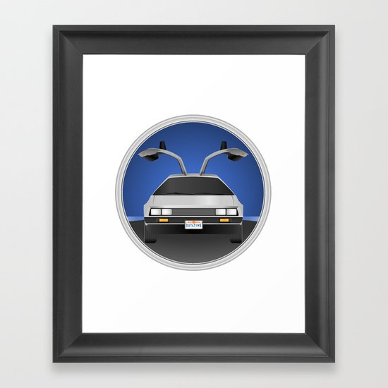 Delorean DMC-12 Framed Art Print