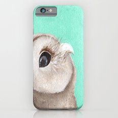Original Owl Painting Print Aqua Blue Owl Art Owl print Cute Owl art One of a kind Unique iPhone 6s Slim Case
