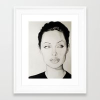 angelina jolie Framed Art Prints featuring Angelina Jolie by alittleart