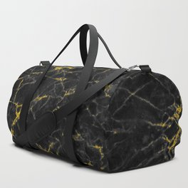 Gold Black Marble Duffle Bag