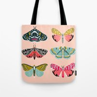 study Tote Bags featuring Lepidoptery No. 1 by Andrea Lauren  by Andrea Lauren Design