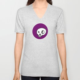 Purple King of Skulls Unisex V-Neck
