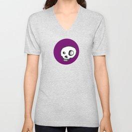 Purple King of Skulls Unisex V-Neck