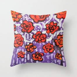 Poppies for You, Dear Throw Pillow
