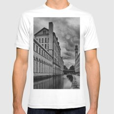 Yorkshire Mills Mens Fitted Tee White MEDIUM