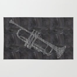 Trumpet on chalkboard Rug