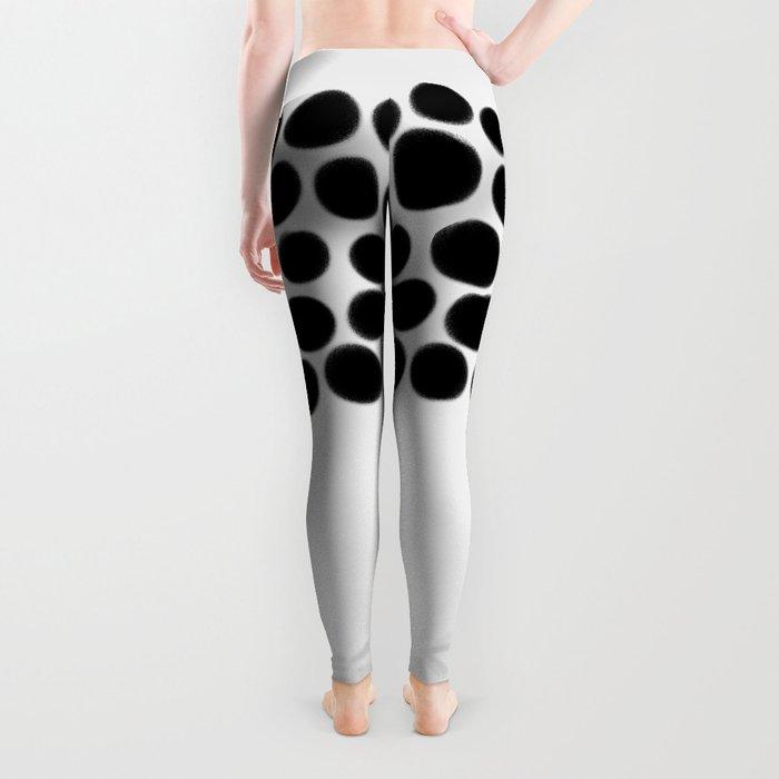 Onyx Black Spots on White Leggings