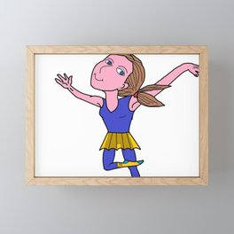 Ballerina flying Framed Mini Art Print