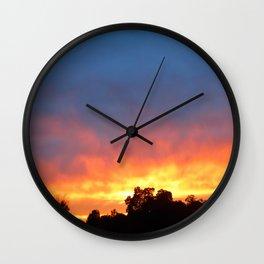Sunset Blaze Wall Clock