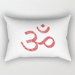 Om (Aum, ॐ) Symbol - Red Rectangular Pillow
