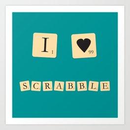 I heart Scrabble Art Print