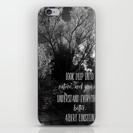 Understand Nature iPhone Skin