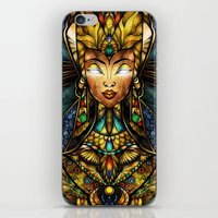 mandie manzano iPhone & iPod Skins featuring Nefertiti by Mandie Manzano