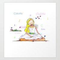 CLAUDIA2 Art Print