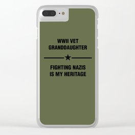 WWII Granddaughter Heritage Clear iPhone Case