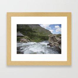 Waterfall Montana Framed Art Print