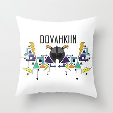 Skyrim: The Dovahkiin - BLUE Throw Pillow