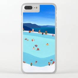 Santorini Summer Clear iPhone Case