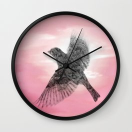 Pink And Lace Wall Clock