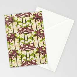 Modern Foral Chevron Stationery Cards
