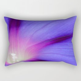 Macro of A Royal Purple Ipomoea Flower Rectangular Pillow