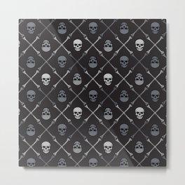Skull n Bones Metal Print