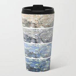 Vincent Van Gogh : Almond Blossoms Panel Art Blue Beige Travel Mug