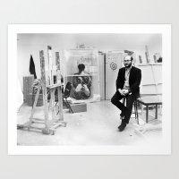 marc allante Art Prints featuring Marc Handelman by Skyla Pojednic