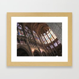 Choir of the Cathedral of Saint Denis Framed Art Print