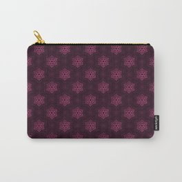 Festive Pink Snowflake Pattern Carry-All Pouch
