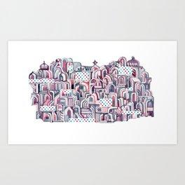 Maroon Castle Art Print