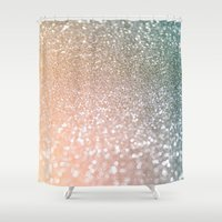 bisexual Shower Curtains featuring Rose quartz glitter  by Better HOME