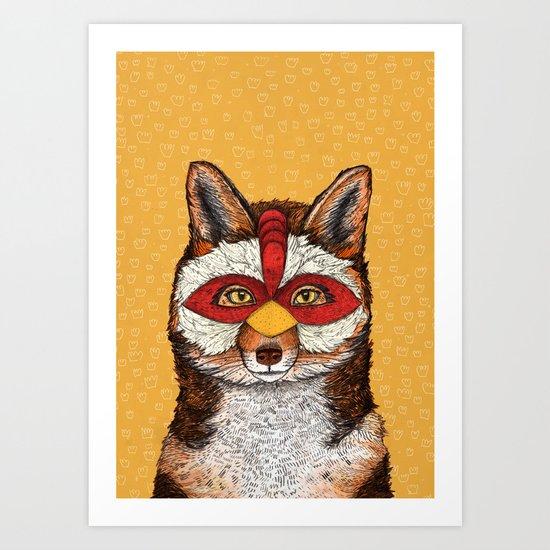 ChickenFox Art Print