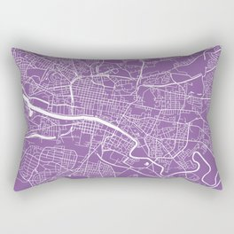 Glasgow map lilac Rectangular Pillow