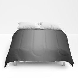 Black to Gray Vertical Bilinear Gradient Comforters