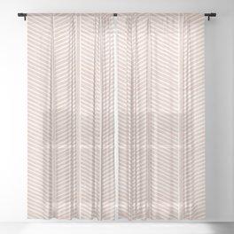 Organic Chevron in Rose Sheer Curtain