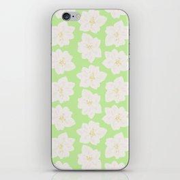 Watercolor Magnolias in Key Lime iPhone Skin