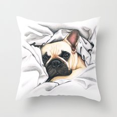 French Bulldog - F.I.P. - Miuda Frenchie Throw Pillow