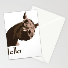 funny horse hello Stationery Cards
