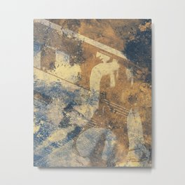The Poacher's Eve | female nude graffiti painting Metal Print