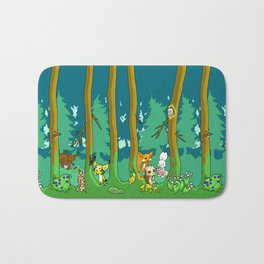 Deep inside the Forest Bath Mat